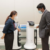Innovative Robotic Solutions (iRobotics) displays their robot solutions for the HSE sector